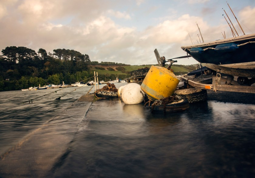 Water overflowing the marina at Salcombe