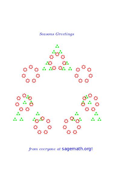 Walking Randomly Christmas Cards From Mathematical Software