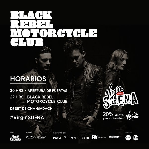 Horarios - Black Rebel Motorcycle Club