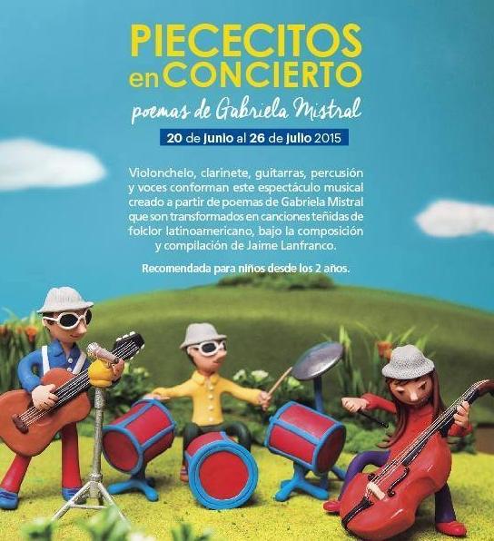 Piececitos en concierto - Centro de Extensión UC - poemas de Gabriela Mistral - folclor latinoamericano-santiagocultura