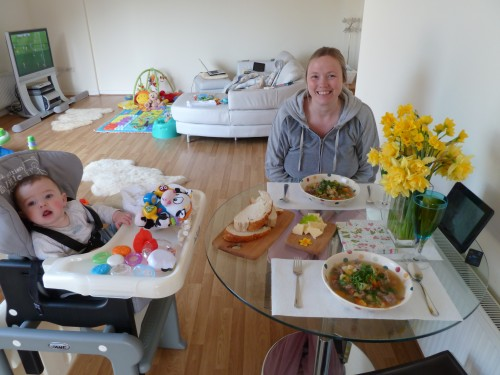 Welsh Cawl - Enjoying the recipe