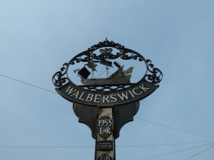 Walberswick Village Sign Suffolk April 2011