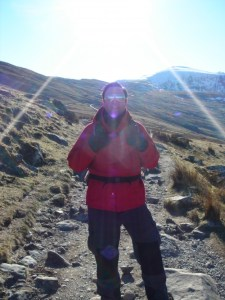 The LLanberis Path with Mount Snowdon behind me