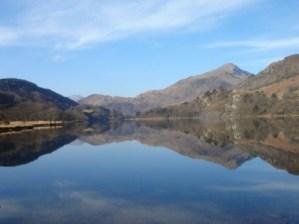 The lake at Pen-y-Gwryd Snowdonia National Park