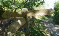 Sandlings Walk Bridleway Signpost Dunwich Suffolk May 2011