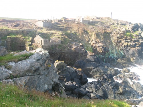 Tin Mine Remains Cornwall South West Coastal Path Walking Route
