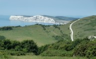 The route ahead to The Needles on the Tennyson Trail before Freshwater Bay July 2011