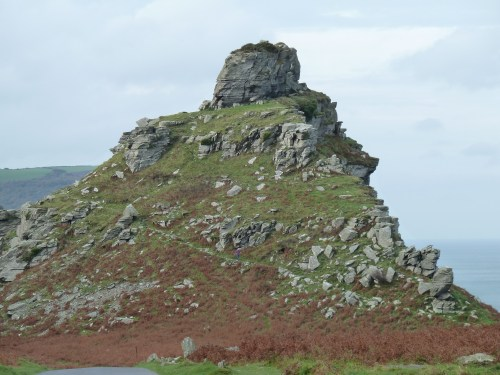 Castle Rock at Lynton Valley of the Rocks walking route Devon Walks - Walks And Walking