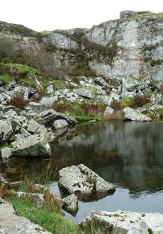 Disused Quarry 3 The Hurlers Walking Route Bodmin Moor Cornwall Walks - Walks And Walking