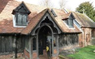 Walks And Walking – Essex Walks – Chipping Ongar Walking Route – Log Church Greensted Entrance