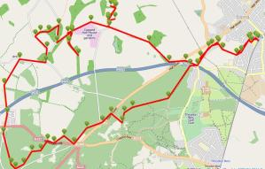 Walks And Walking - Epping Forest Queen Boudicca Walking Route Map