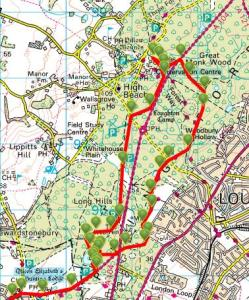 Walks And Walking - Essex Walks Epping Forest Kates Cellar Walking Route
