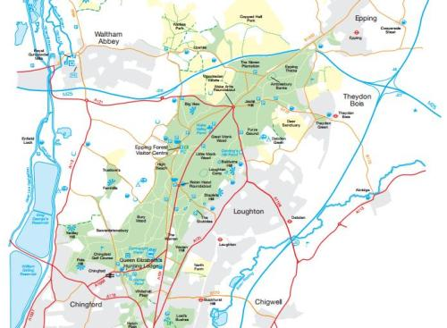 Walks And Walking - Essex Walks Epping Forest Walking Routes Map 2012