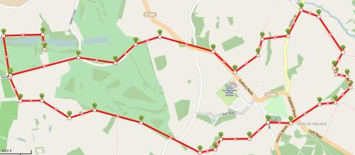 Walks And Walking - Suffolk Walks Stoke by Nayland Church Walking Route Map