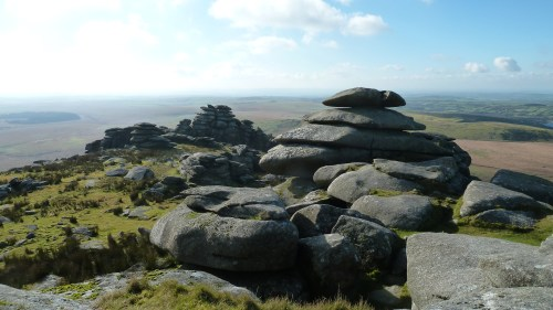 Walks And Walking - Cornwall Walks Bodmin Moor Rough Tor And Brown Willy Walking Route - On top of Rough Tor
