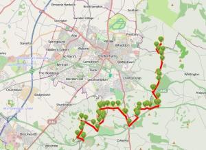 Walks And Walking – Cotswolds Walks Cheltenham Cotswold Way Walking Route Map