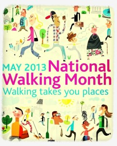 Walks And Walking - National Walking Month May 2013 Logo