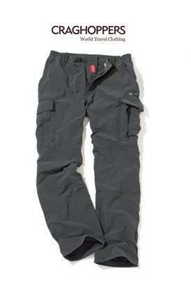 Top 5 Walking Trousers Review - Walks And Walking - Craghoppers Nosilife Cargo Walking Trousers - Black Pepper