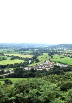 View From Caer Drewyn Walk at Corwen Walking Festival
