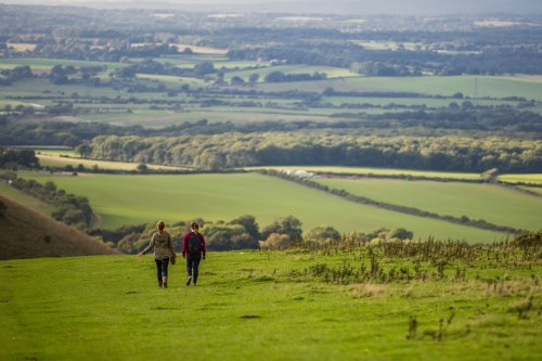Walks And Walking - Autumn Walks In The South Downs National Park - Fulking on the South Downs Way in East Sussex