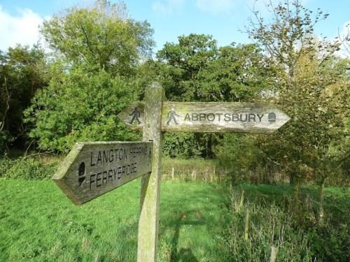 Walks And Walking - Weymouth Walks Abbotsbury Walking Route - Signposts To Abbotsbury From Langton Herring