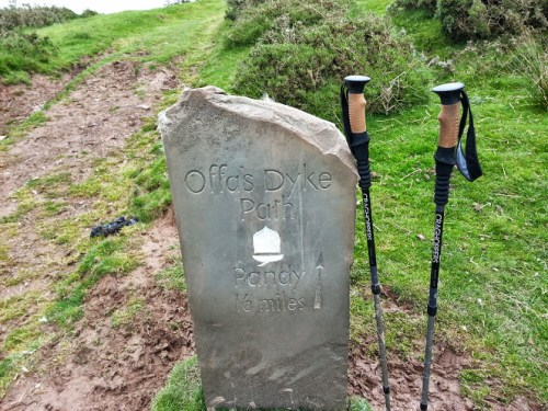 Walks And Walking - Hay Bluff Walking Route - Offas Dyke Path Stone Waymarker