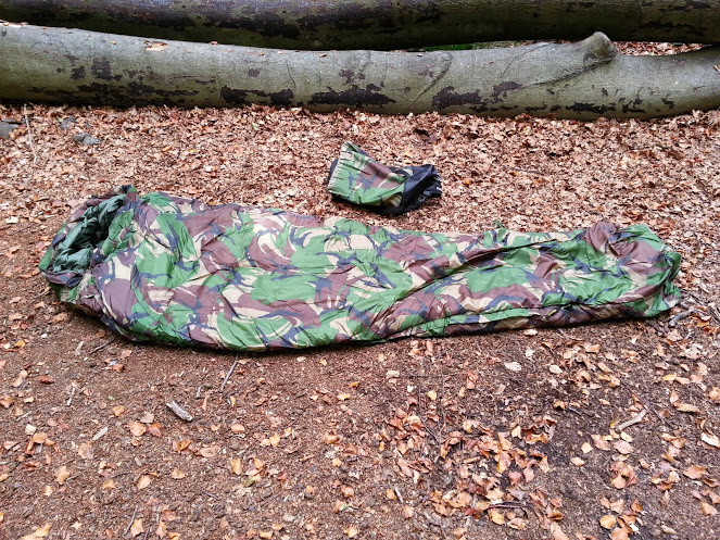 Walks And Walking - Pro Force Phantom Camo 250 Sleeping Bag - Flat Closed