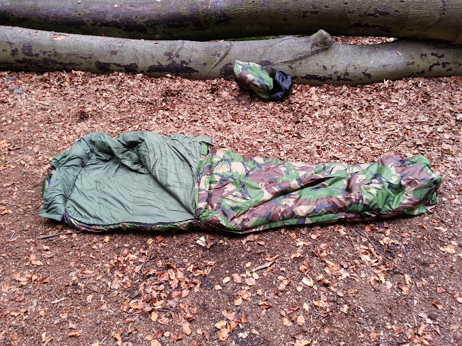 Walks And Walking - Pro Force Phantom Camo 250 Sleeping Bag - Flat Opened
