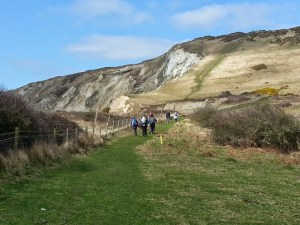 The ascent from Worbarrow Bay up to Flower's Barrow