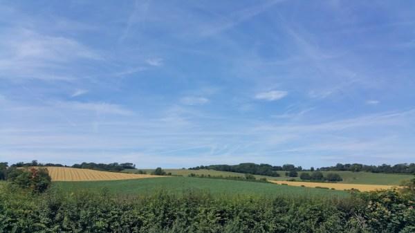 Walks And Walking - Lyminge Walk In Kent - Elham Valley Way Views