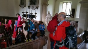 HF Holidays 8 Mile Linear Hard Walk to Lynmouth - Countisbury Church