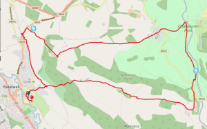 Darwin Forest Country Park Walks - Bakewell To Chatsworth House Map