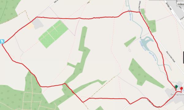 Walks And Walking - Bishopsbourne Walk In Kent - Map