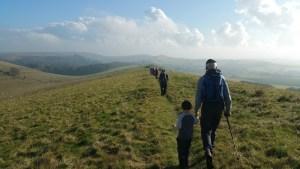 HF Holidays Guided Walk – Carisbrooke Castle Walking Route - Limerstone Down Ridgeway