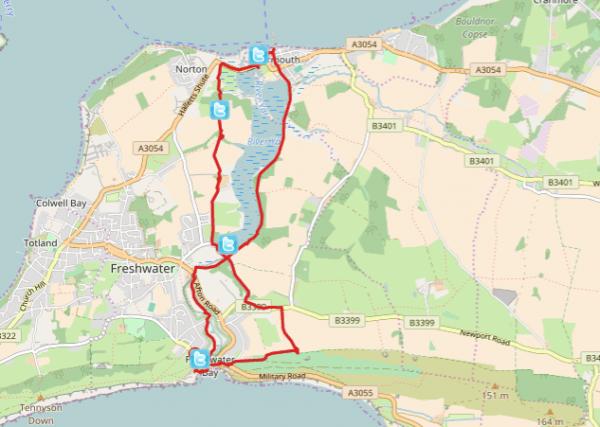 HF Holidays Self Guided Walk – Yarmouth Walking Route - Map