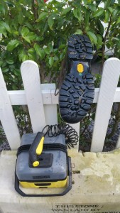 Karcher OC3 Portable Cleaner - boot sole results