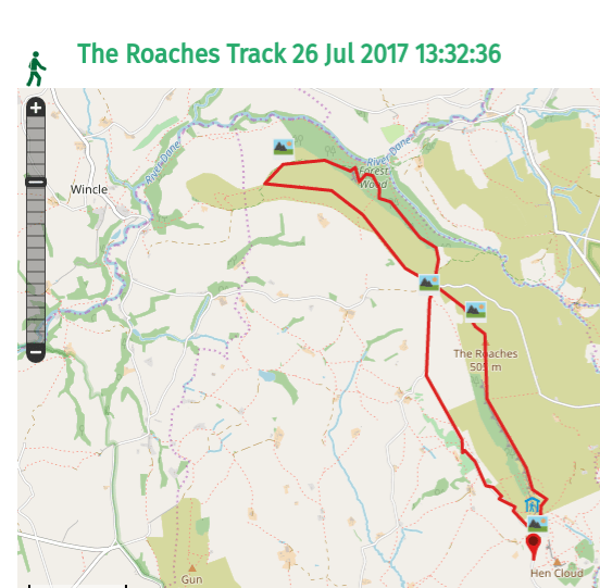 Walks And Walking - The Loaches Walk In The Peak District - Map
