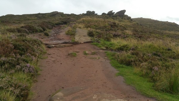 Walks And Walking - The Loaches Walk In The Peak District - climbing up to the Roaches