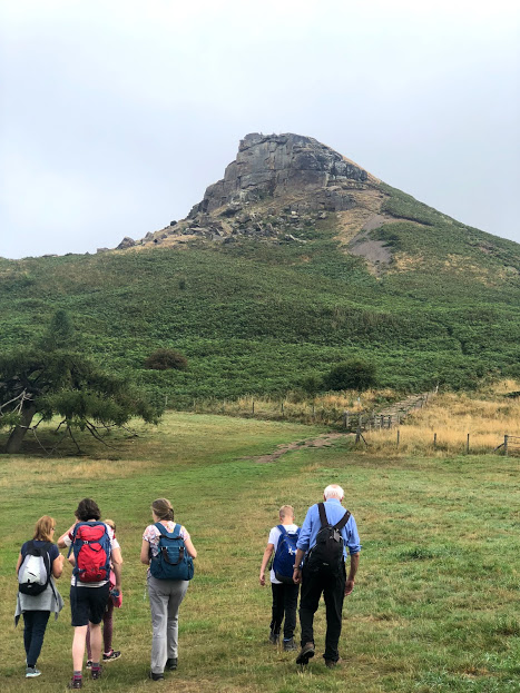 Walking towards Roseberry Topping