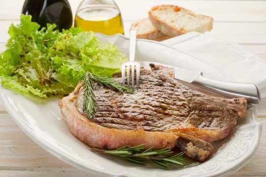 Florentine T-bone steak, a particular dish of Florence