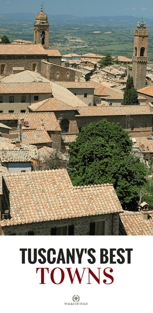 The view over the roofs of Montalcino makes it one of the top ten towns of Tuscany. Find out the others.