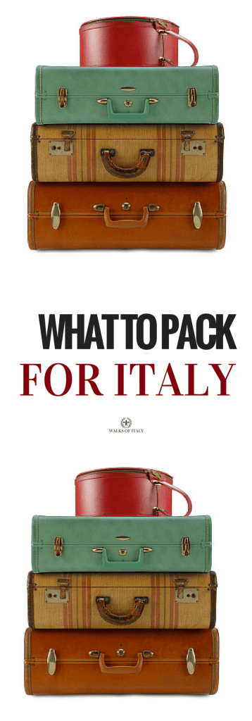 "Our friends always ask us: ""what do i pack for my trip to Italy"". Find out right here."