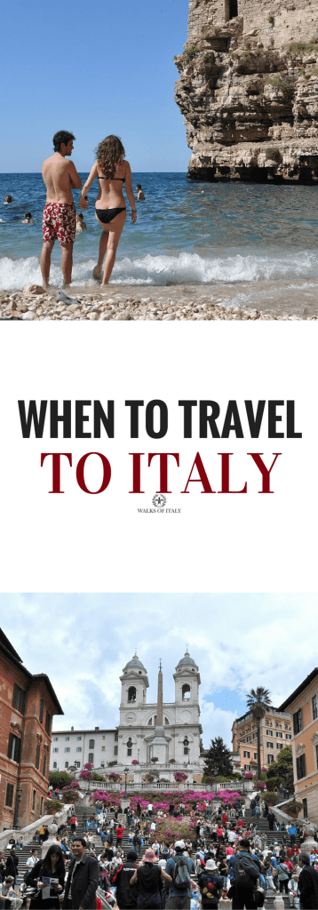 "Wether going to a sunny beach or the Spanish Steps, everyone wants to know ""when should I travel to italy?"" Find out the best times to travel."