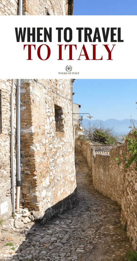 Narni, Umbria is a beautiful little town fulll of winding streets and incredible views. Find out what the best time of year is to visit
