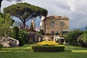 Beautiful garden's in Ravello, a hidden gem of the Amalfi Coast.