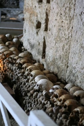 One of Italy's creepiest bone yards