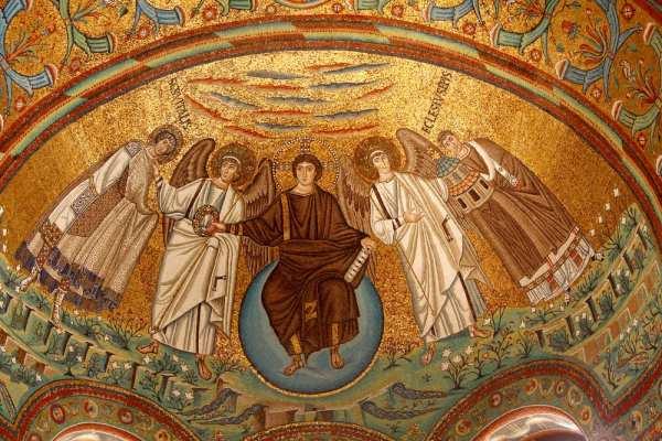 Byzantine mosaic at San Vitale