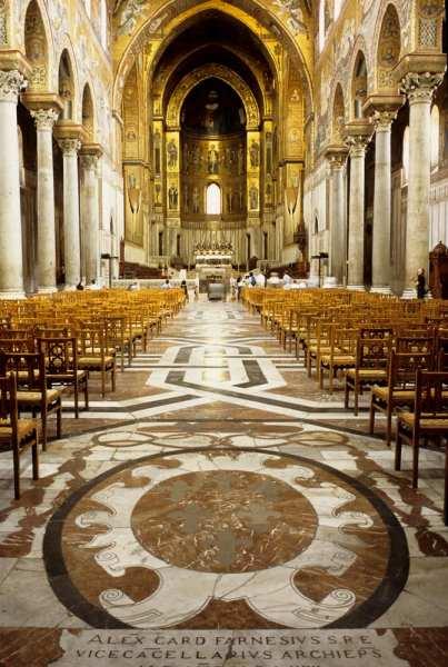 The glittering Basilica of Monreale in Palermo, Sicily