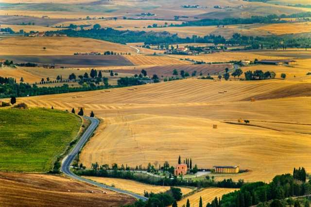 Val d'Orcia, Unesco, central Italy