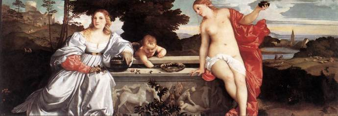 Titian's Sacred and Profane Love... a beautiful, and mysterious, painting in Italy!